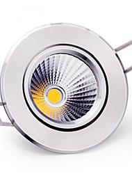 6W Lâmpada de Teto Encaixe Embutido COB 400-500 lm Branco Quente / Branco Frio Regulável AC 220-240 V 5 pçs