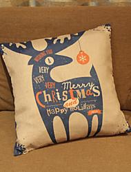 Santa Elk Christmas Pillowcase Composite Linen