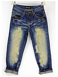 Women's Casual 3/4 Pants (Denim)