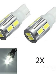 2x T10 10SMD 5630 LED Canbus Parking Light Rear Lamp Bulb White