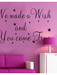 We Made A Wish And You Came True Wall Decals Zooyoo8137 Decorative  Removable Vinyl Wall Stickers