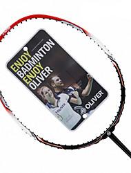 Men/Unisex/Women/Kids Badminton Rackets Low Windage/High Elasticity/Durable Red 1 Piece Carbon Fiber
