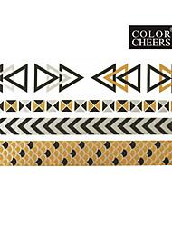 1Pc Long Bracelet Tattoo Sticker 23x11CM