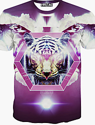 Men's Fashion 3D Printing Short Sleeve T-Shirts
