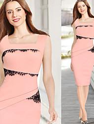 Vestidos ( Algodón Compuesto/Tela de Encaje )- Tela de Encaje/Trabajo Cuadrado Sin Mangas para Mujer