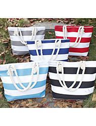 Women's Handbag Casual Women Shoulder Bag Printing Bag Canvas Beach Bag Stripped Colorful Bag Free