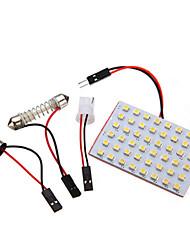 1x Car Light Panel 48SMD LED Interior Bulb T10 BA9S Adapter 6W