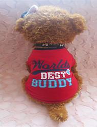 Perros Camiseta Rojo Verano Letra y Número