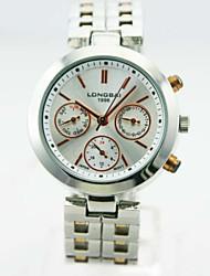 caja de la aleación analógico calendario banda de aleación de hombres reloj de cuarzo reloj chino del regalo del reloj del negocio esfera