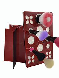 MAKE-UP FOR YOU Makeup Brush Drying Rack(Red+Black)