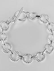 toevallige verzilverd link / armband manchet armbanden fijne juwelen 2015 nieuwe design