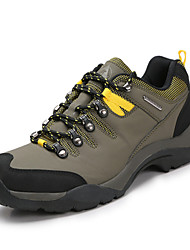 4X4 Wheel Drive Waterproof Outdoor Hiking Men's Shoes Leather Yellow/Red