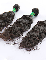"1 Pcs Lot 8""-24""Indian Virgin Hair #1B Natural Wave Human Hair Bundles Hair For Afro Women"