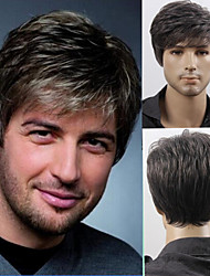 Mens' Short Layers Synthetic Hair Men Wig free shipping