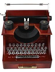 máquina de escrever retro caixa de música gaveta