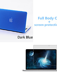 "Case for Macbook Pro 13.3"" with Retina display Solid Color Plastic Material Top Quality Full Body Matte Case and Screen Protetive Film"