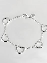 argento placcato casuale link / bracciale catena best-seller di gioielli in argento sterling 925 braccialetti donne