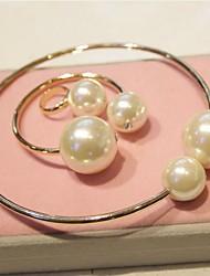Bracelets/Anneaux ( Alliage/Imitation de perle ) Vintage pour Femme