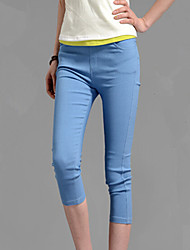 Pantalon Aux femmes Slim Décontracté Polyester Elastique