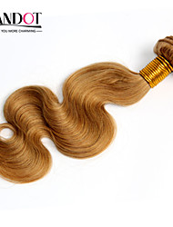"""3pcs 14-28 """"Cinderella extensões de cabelo mel cabelo humano onda do corpo peruano remy virgem loira tecer pacotes 7a cor 27"""