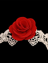 Women Fashion Body Jewelry Summer Beach Gothic Style Charm Vintage Lace Flower Red Rose Anklets