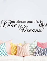 ne pas rêver sa vie décoration d'intérieur Stickers muraux décoratifs zy8142 ADESIVO de parede vinyle amovible stickers muraux