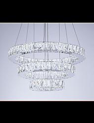 Modern LED Chandelier Lights Lighting Cool White Three Rings D305070 K9 Large Crystal Hotel Ceiling Light Fixtures