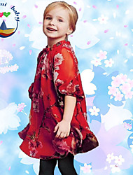 Girl's Summer ½ Length Sleeve Dresses (Cotton Blends)