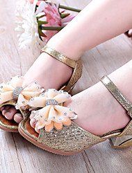 Girls' Shoes Dress/Casual Heels Synthetic Pumps/Heels Purple/Gold