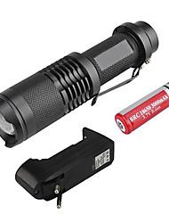 sk68 3 modes Cris XM-L T6 zoom lampe led set (1000lm, 1x18650)
