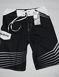 Black White Men's Surf Boardshorts Quick Dry Polyester Board Shorts Beach Swim Pants Mens Beach Wear S/M/L/XL/XXL