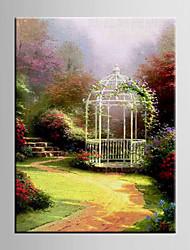 peinture à l'huile jardin paysage européen la main abstraite toile peinte avec la main tendue encadrée