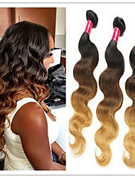 3pcs / lot brasilianische ombre Haar Körper drei Ton ombre / 27.04 Farbe 1b unbearbeitete Haare