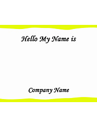 Personalized Name Tag Sticker Colorful Frame Pattern (Set of 18pcs)