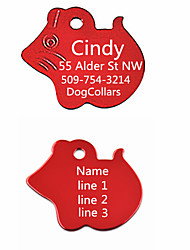 Personalized Gift Mouse Pattern Pet ID Name Tag(Assorted Colors)