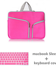 """Handbag for MacBook Pro 13"""" with Retina display Solid Color Canvas Material Top Selling Solid Color Canvas Zipper bag with Keyboard Cover"""