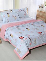 летом одеяло 100% хлопок светло-розовый постельные принадлежности для девушек реактивной печати