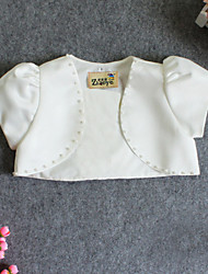 Girl's Fashion Matching Inelastic Thin Short Sleeve Coats (Cotton/Satin)