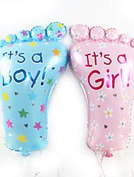 (2 pcs) de grands pieds le film aluminium décoration ballon de fête d'anniversaire ballon'S enfants adultes (couleur aléatoire)