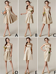Lanting Mix & Match Dresses Knee-length Satin 6 Styles Bridesmaid Dresses (3227694)