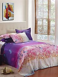 flanelle violette pleine couverture de couette