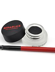 rouge&gel eyeliner longue tenue noire aque doux sans irritation 5g résistant à l'eau