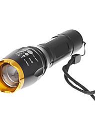 5 modos cree xm-l T6 lanterna led zoom (1000lm, 1x18650, preto)