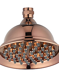 "6"" Rose Gold Finish Brass Telephone Classic Style Water Saving Rain Shower Head for Bath"
