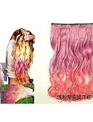 Five Clips Curly Synthetic Hair Extension