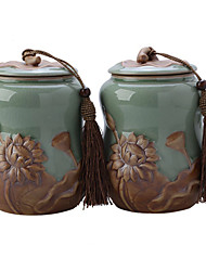 China Storage tank Storage Jar porcelain The tea pot Two pack