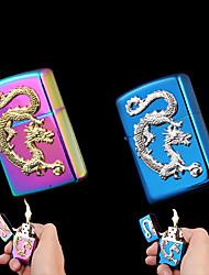 colorido chinês relievo dragão querosene mais leves (cores sortidas)
