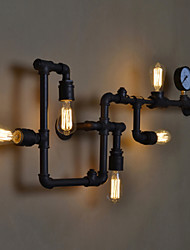 Retro Water Pipe Wall Lamp Vintage Aisle Lights Loft Iron Color Rural Restoring Ancient