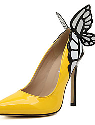 Women's Shoes Stiletto Heel Heels Pumps/Heels Outdoor/Dress Black/Yellow