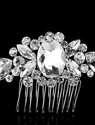 Vintag Party Bridal Bridesmaid Diamond/Rhinestone/Crystal Rose Flower Bridal Hair Comb For Women